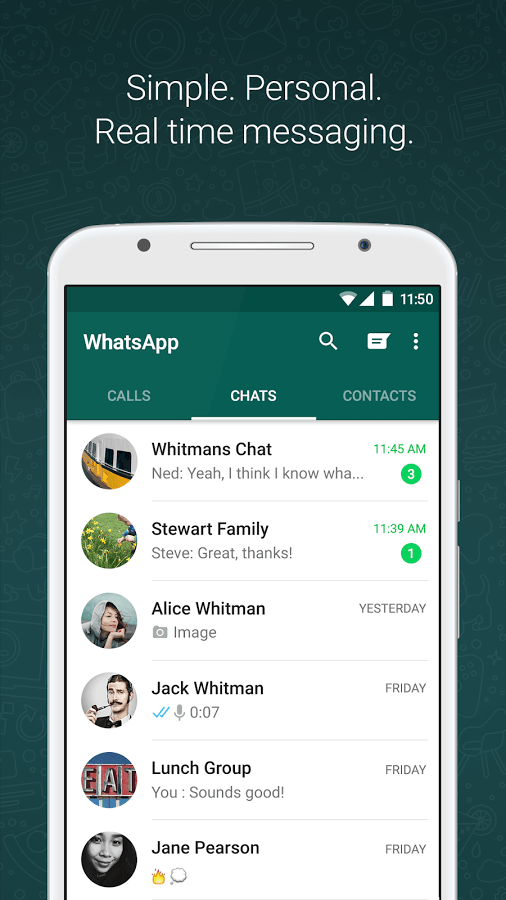 WhatsApp Messenger Interface